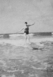 Pip - one of the first British surfers